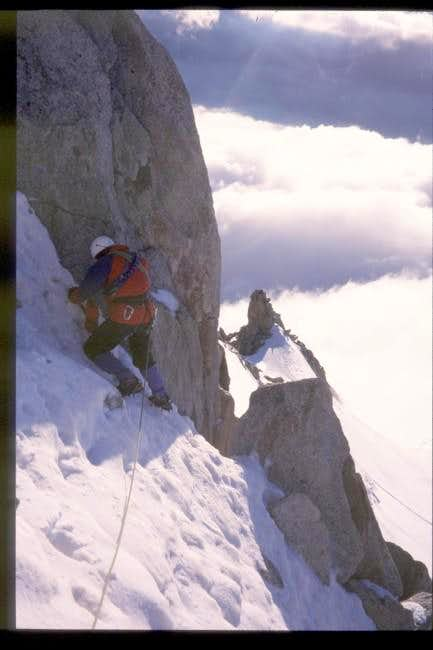 On the summit ridge,...