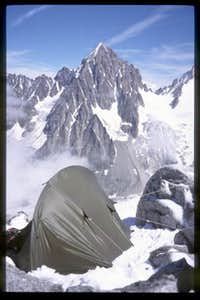 Camp on the Petite Aiguille...