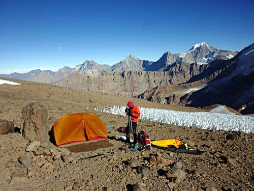 Camp at 4800 meters