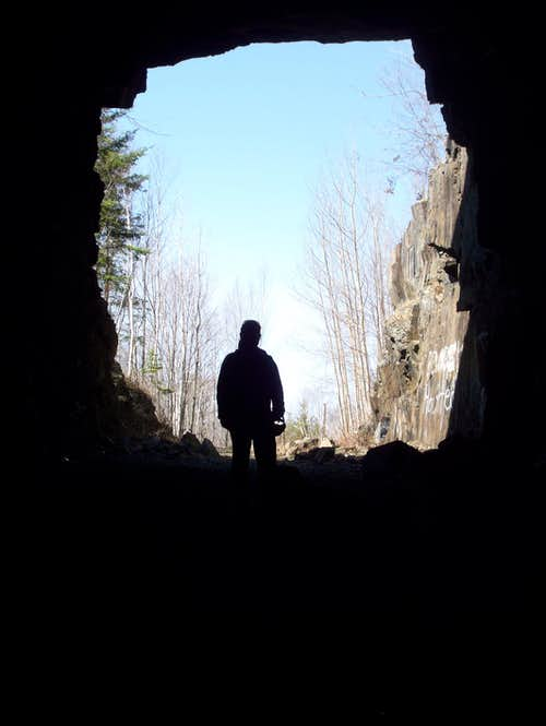 Looking Out  of the Old DWP Railway Tunnel