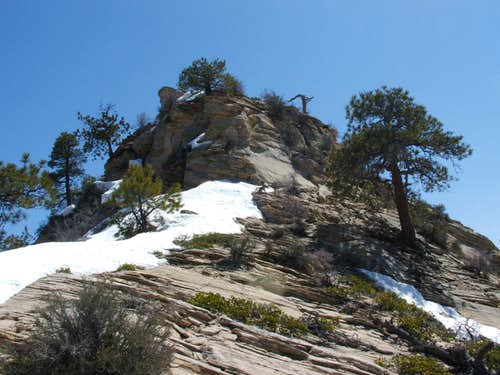 Snow drapes point 6460 in Zion
