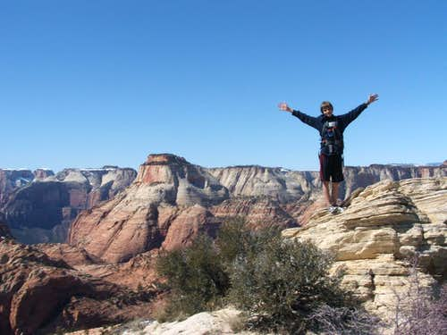 Summit of 6460 \'Lost Peak\' in Zion