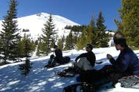 Break Time Below Half Moon Pass