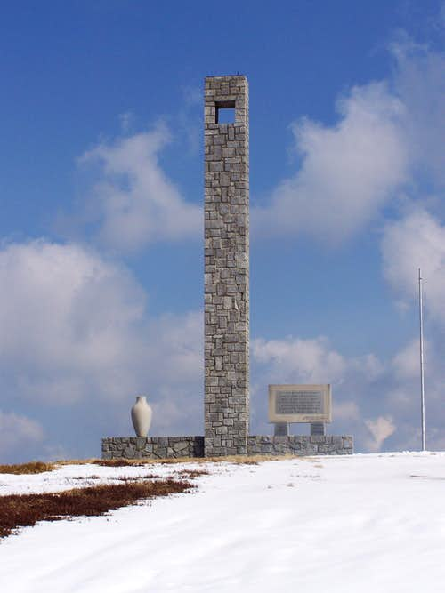 The NOB memorial on the summit of Jezerski vrh