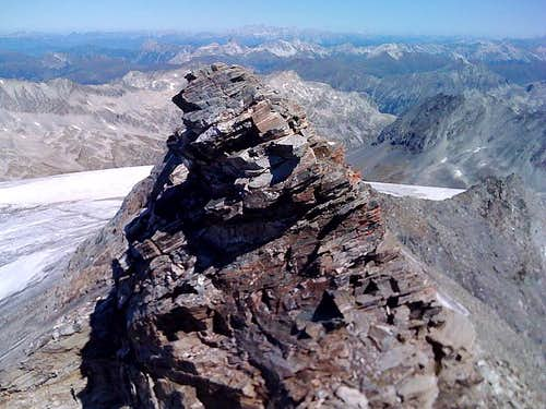 On the summit of the Ankogel in Sept. 2008, looking towards the north
