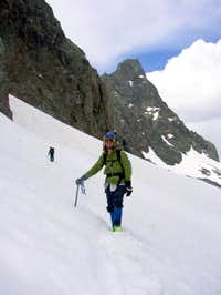 Descending the SE Glacier