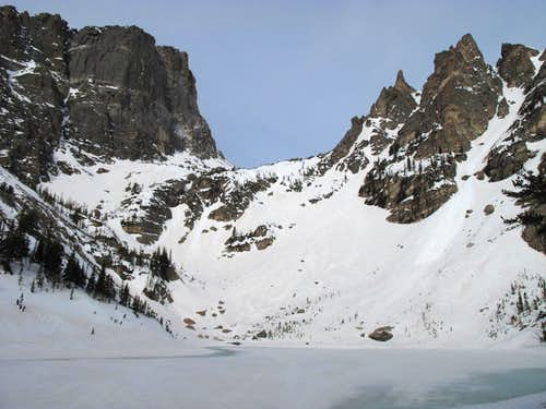 Dead Elk Couloir ski descent- RMNP
