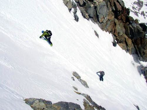 Me and Kevin Climbing Mt Ritter\'s North Face