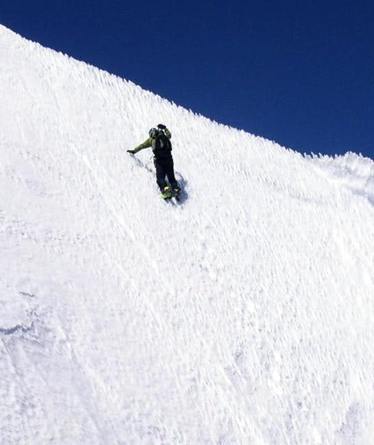Kevin Long Topping Out on the North Face