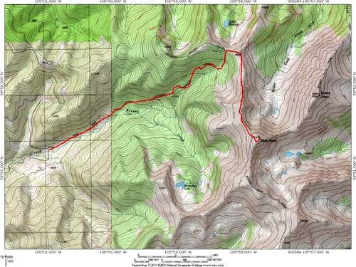 Topo map of the Kinney Creek...