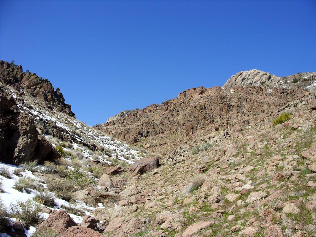 Hiking up Post Canyon