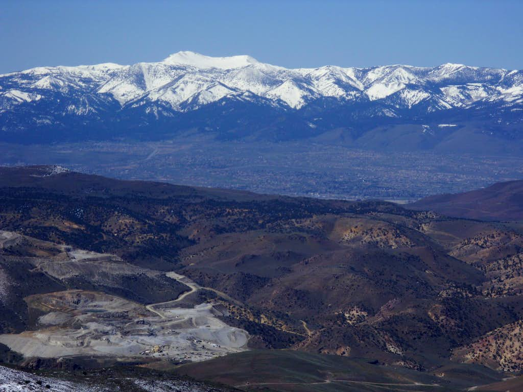 Mount Rose from the summit of Clark Mountain