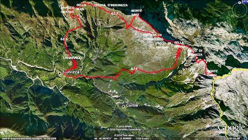 NW ridge ( Alta Via Resiana )