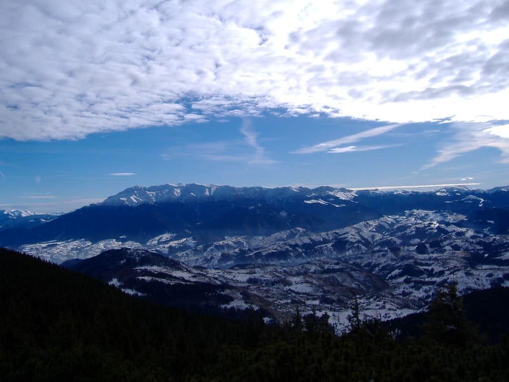 Bucegi Mountains seen From Piatra Craiului