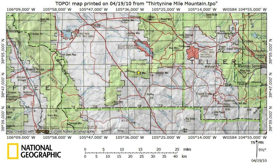 Thirtynine Mile Mountain_Getting There Map
