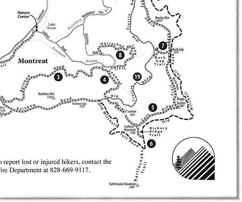 Montreat Trail Map