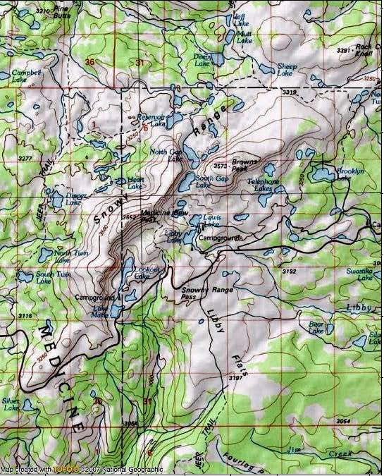 Snowy Range Map