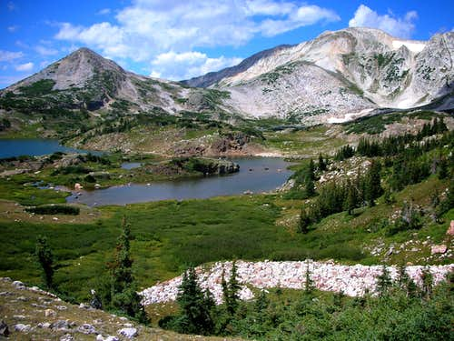 Sugarloaf and Medicine Bow Peak