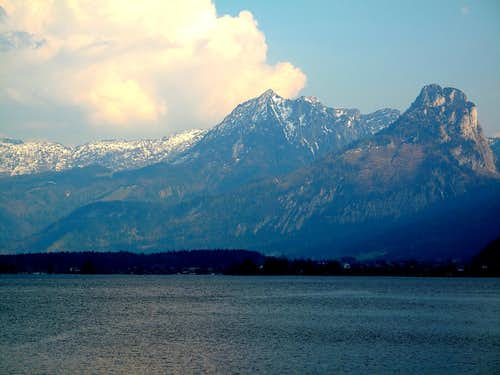 Wolfgangsee and the Salzkammergut mountains