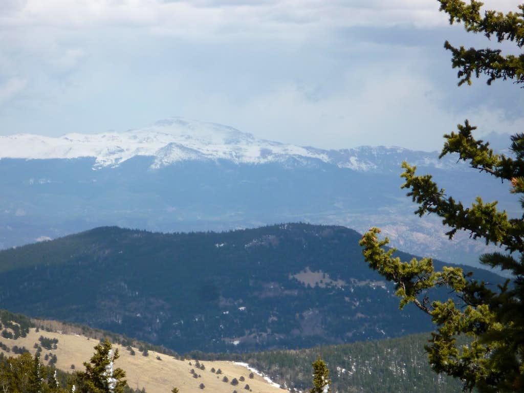 Looking back at Pikes Peak