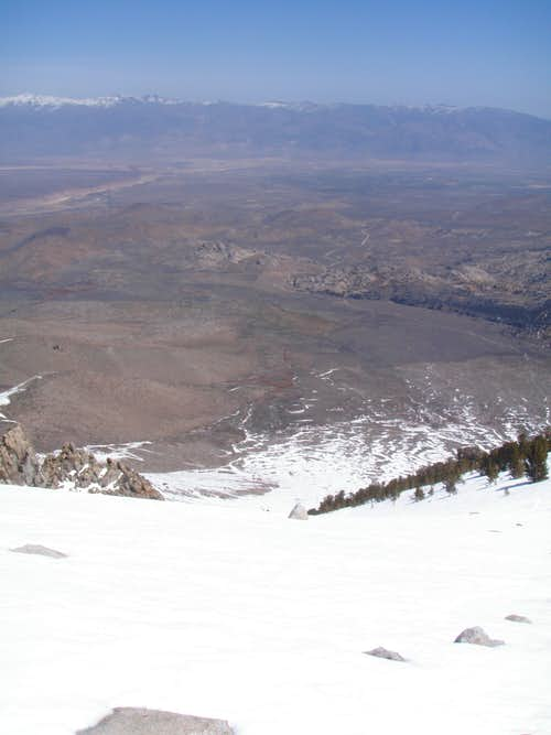 View down to the Owens Valley...