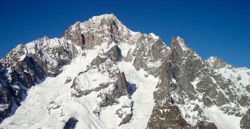 Mont Blanc seen from italian side (drom Molveno )