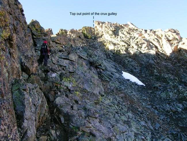 Jim surveys the route which...