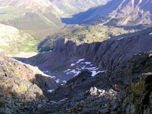 Jim descending Ice Mountain's...