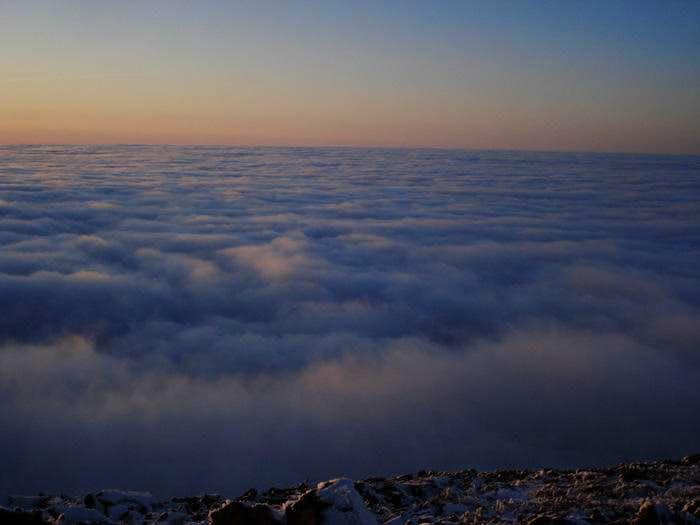 an ocean of clouds