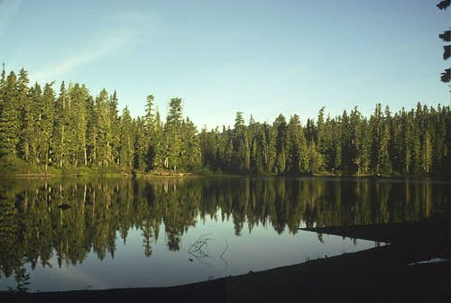 Flapjack Lakes in Evening Light