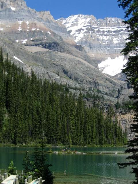 Lake Ohara in the foreground...