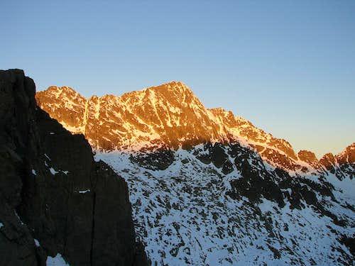 Sunrise on Negoiu peack ( Fagaras )