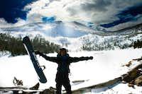 Snowboarding Lolo Peak