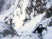 Technical pass in the north face of Mulhacén