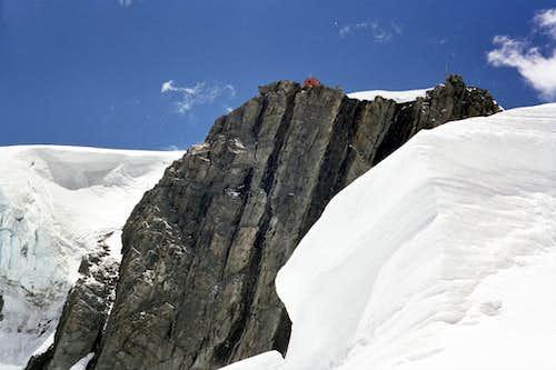 Hut on cliff