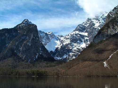 Ice Chapel and Watzmann seen from the Königssee lake