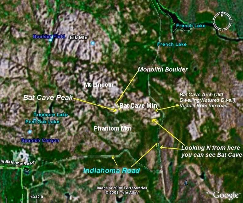Bat Cave Mtn Map (Rv)
