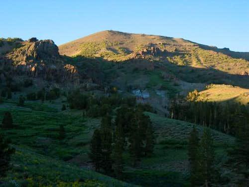 Sonora Peak in alpenglow, as...
