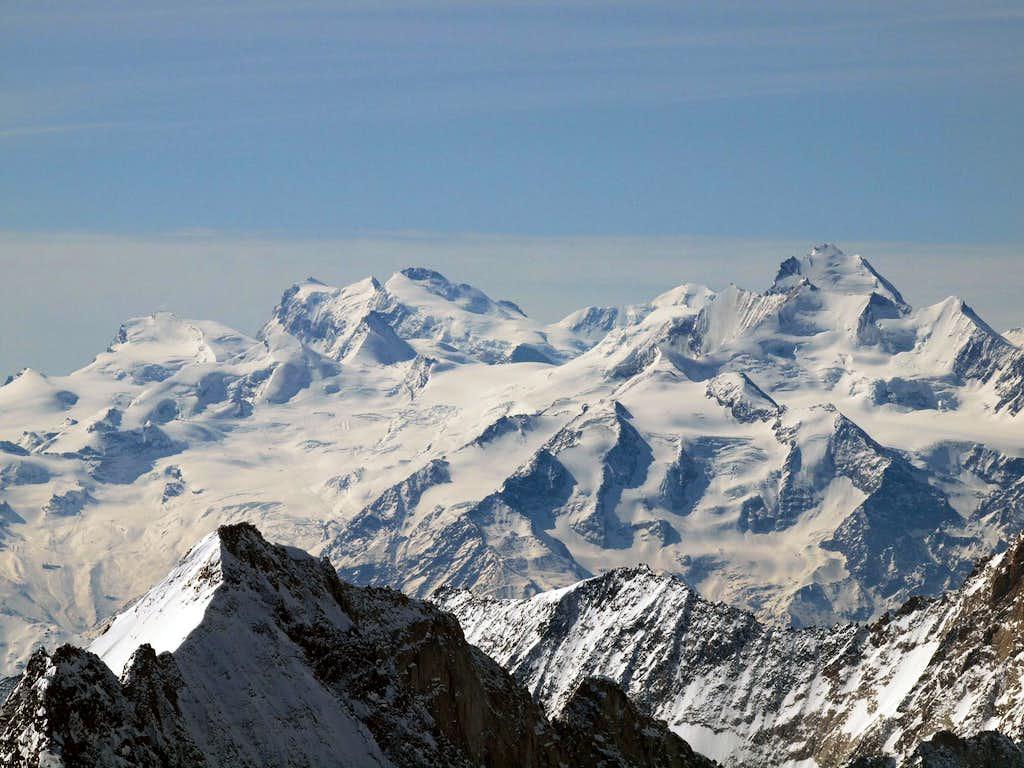 Saas mountains, Monte Rosa, Mischabel