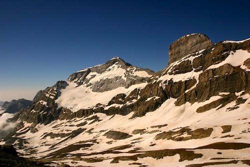 Monte Perdido (left) and...