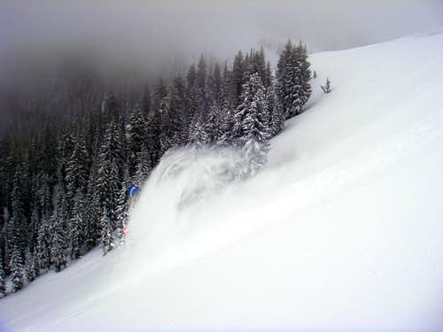 Skiing Scotts Bowl