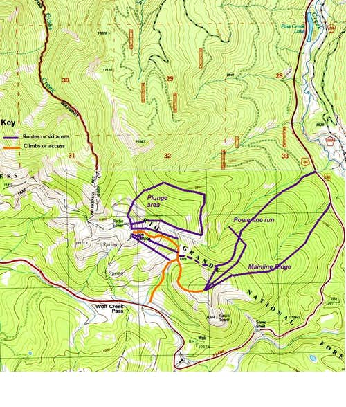 Wolf Creek ski routes