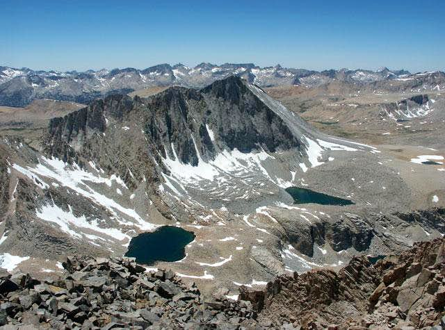 The east face of Mt. Tyndall...