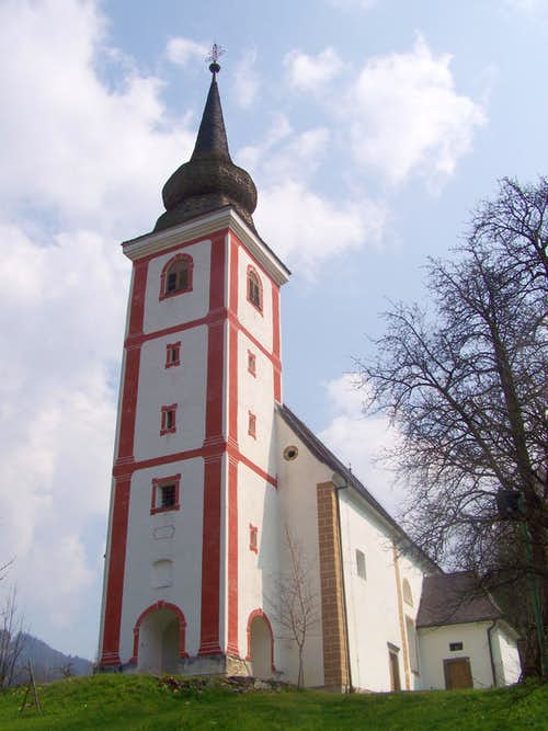 The St Leonard church in Mislinja