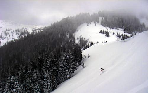 Skiing Scotts Bowl