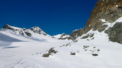 The Lisener Spitze on the left