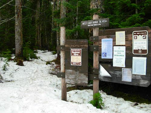 West Cady Ridge Trailhead