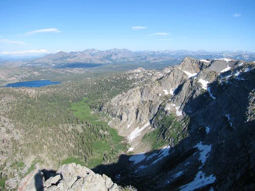 View of the northern face of Deadwood Peak from point 9626.