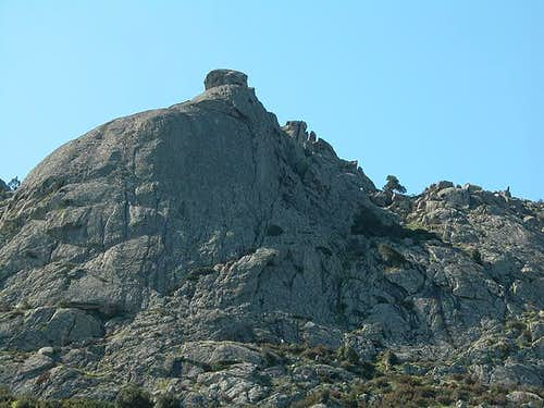 The Monte Lisgiu west face....