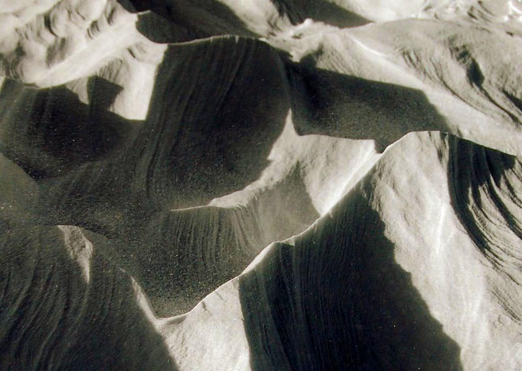 Wind Scoured Snow Near the Bolam Glacier